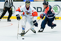 Martin Vozdecky of Czech Republic vs Joseph Doran of USA at IIHF In-Line Hockey World Championships 2011 Top Division Gold medal game between National teams of Czech republic and USA on June 25, 2011, in Pardubice, Czech Republic. (Photo by Matic Klansek Velej / Sportida)