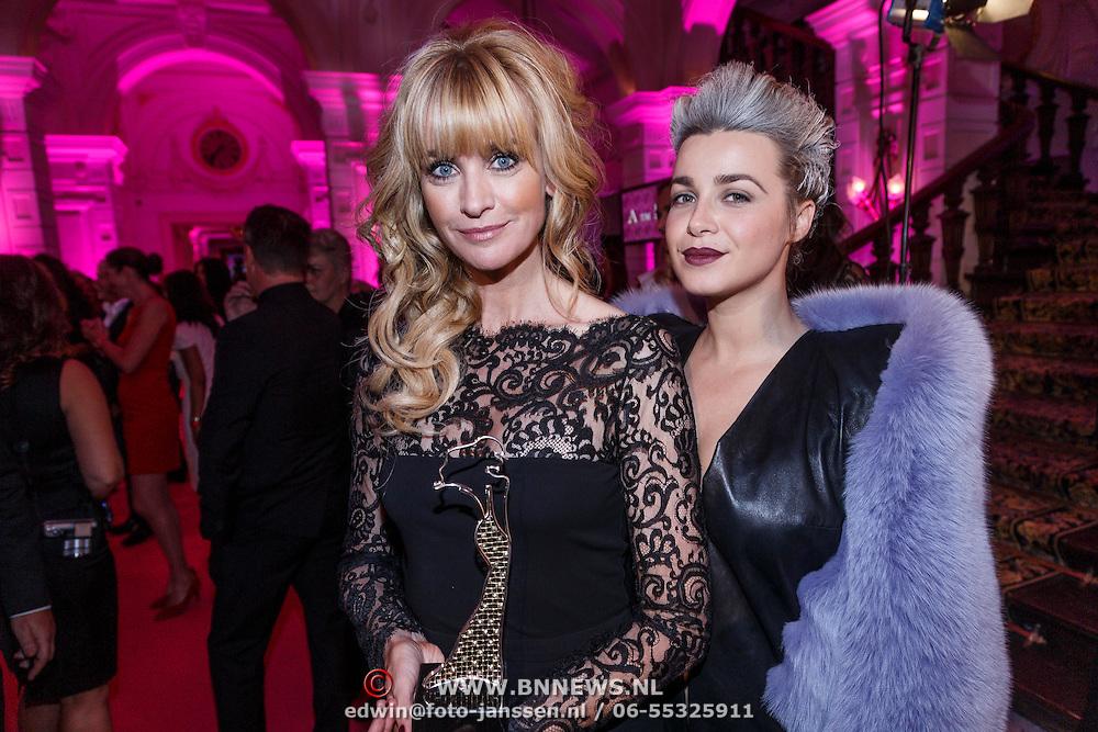 NLD/Amsterdam/20131111 - Beau Monde Awards 2013, Daphne Deckers en Victoria Koblenko