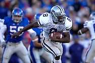 Kansas State running back James Johnson rushes up field against Kansas in the first half at Memorial Stadium in Lawrence, Kansas, November 18, 2006.  Kansas beat K-State 39-20.<br />