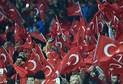 November 17, 2018 - Konya, Türkiye - Turkish supporters Turkey vs. Sweden UEFA Nations League, League B game at Konya, Turkey, 17th Nov., 2018 (Credit Image: © Hikmet Saatci/Depo Photos via ZUMA Wire)