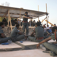 Fijian troops, part of theUnited Nations Interim Force in Lebanon - UNIFIL, perform a tradiitonal kava ceremony for invited dignitaries and local citizens in southern Lebanon in 1981.