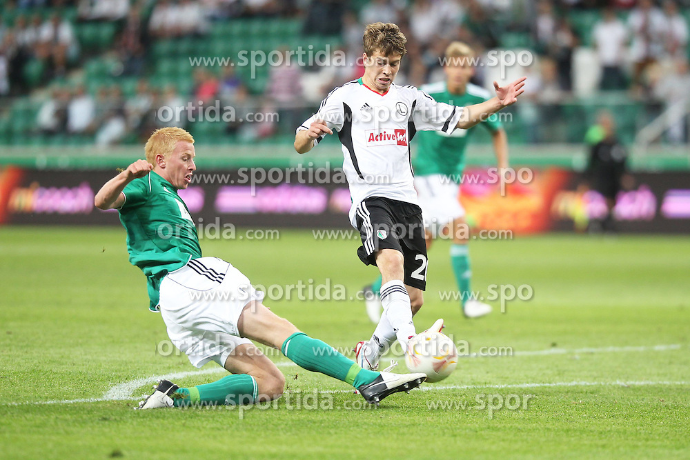 09.08.2012, Pepsi Arena, Warschau, AUT, UEFA EL, Rueckspiel, Legia Warschau (POL) vs SV Josko Ried (AUT), im Bild Thomas Reifeltshammer (Ried) vs JAKUB KOSECKI // during the UEFA Europa League 2nd Leg Match between Legia Warschau (POL) and SV Josko Ried (AUT) at the Pepsi Arena, Warsaw, Poland on 2012/08/09. EXPA Pictures © 2012, PhotoCredit: EXPA/ Newspix/ Lukasz Grochala..***** ATTENTION - for AUT, SLO, CRO, SRB, SUI and SWE only *****