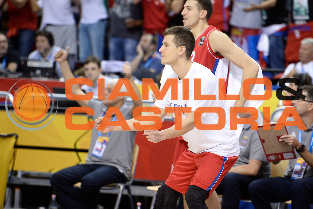 DESCRIZIONE : Berlino Berlin Eurobasket 2015 Group B Turkey Serbia<br /> GIOCATORE :  Bogdan Bogdanovic<br /> CATEGORIA : Esultanza<br /> SQUADRA :Serbia<br /> EVENTO : Eurobasket 2015 Group B <br /> GARA : Turkey Serbia<br /> DATA : 09/09/2015 <br /> SPORT : Pallacanestro <br /> AUTORE : Agenzia Ciamillo-Castoria/I.Mancini <br /> Galleria : Eurobasket 2015 <br /> Fotonotizia : Berlino Berlin Eurobasket 2015 Group B Turkey Serbia