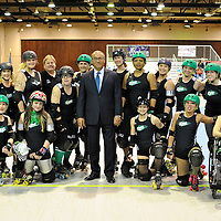 Ohio Roller Girls' Home double header: ..Ohio's Gang Green 171.Fort Waynes SWAT Team 44 ..Ohio Roller Girls - 201 .Ft. Wayne Bomb Squad - 108