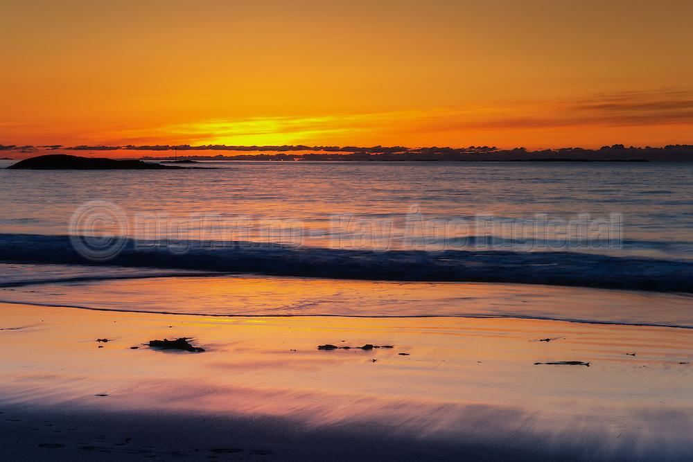 Sunset at Flø, Norway   Solnedgang på Flø, Norge