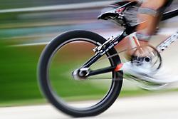 Olympics - London 2012 Olympic Games - BMX Track  - 8/8/12.Cycling - Bmx - Men's Seeding Run - , Hinterrad, Fahrrad, .© pixathlon