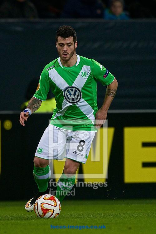 Vierinha of VfL Wolfsburg during the UEFA Europa League match at Volkswagen Arena, Wolfsburg<br /> Picture by Ian Wadkins/Focus Images Ltd +44 7877 568959<br /> 19/02/2015