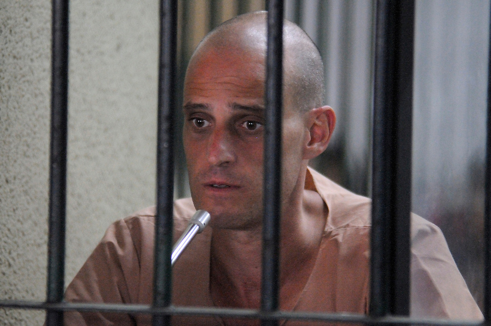 Speaking with a visitor, Australian writer, Harry Nicolaides, age 41, was sentenced to 3 years in prison after pleading guilty to lese-majeste for insulting the country?s Monarchy, Bangkok, Thailand, on Monday, January 19, 2009.  His 2005 book of fiction ?Verisimilitude? had a short passage about a fictional prince.  **Assignment Images for Sunday Times Magazine #2622**