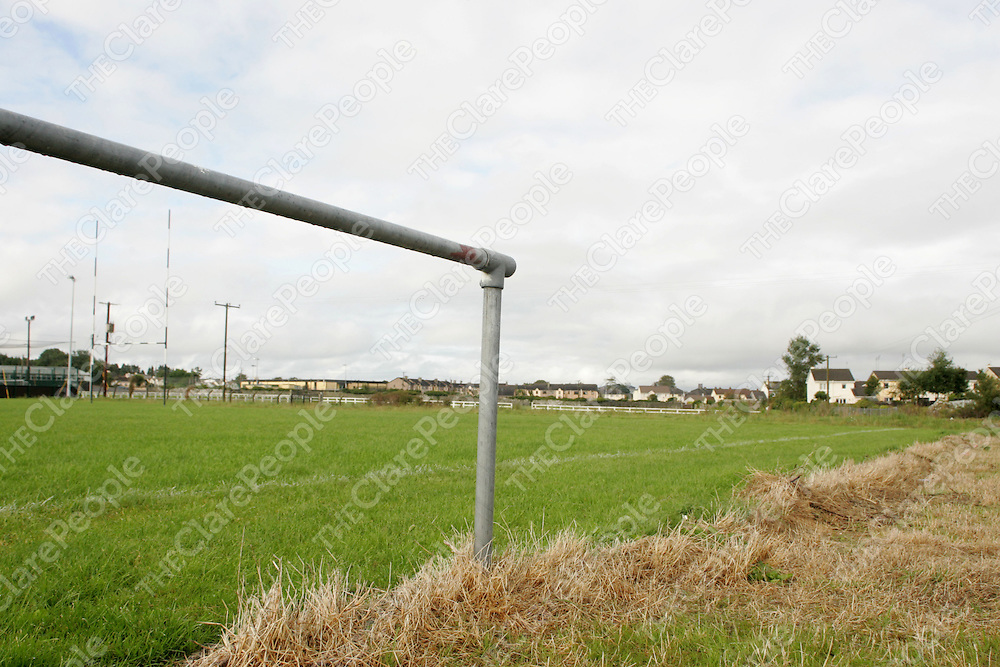 The damaged barrier fence at Ennis Rugby Club. Pic. Brian Arthur/ Press 22.