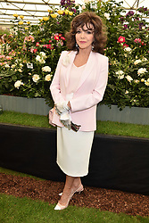 Dame Joan Collins at the RHS Chelsea Flower Show Press Day, Royal Hospital Chelsea, London England. 22 May 2017.<br /> Photo by Dominic O'Neill/SilverHub 0203 174 1069 sales@silverhubmedia.com