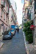 Street scene Rua Paz, Lisbon, Portugal