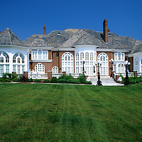 Exterior of private luxury Mansion, Maryland, USA.