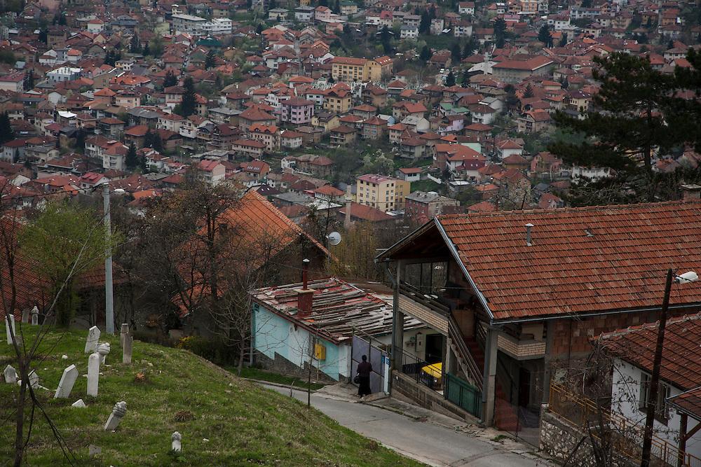 Vratnik neighborhood overlooking downtown Sarajevo.