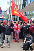 Supporters  during the Soldier F Protest at Media City, Salford, United Kingdom on 18 May 2019.