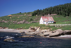 Gaspe Peninsula, Quebec:  The other side of Bonaventure Island.