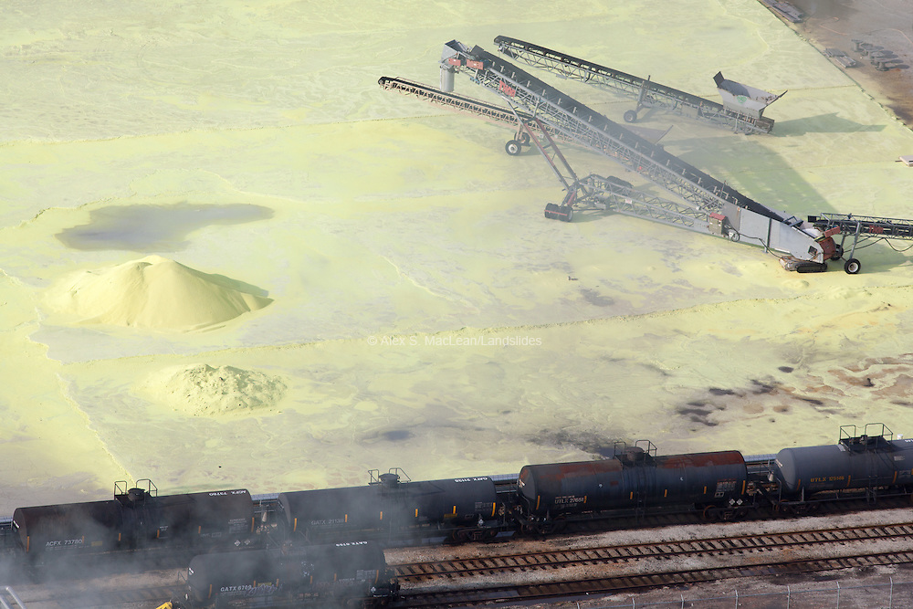 Sulfur Byproduct and Oil Tankers on the banks of the Calumet River