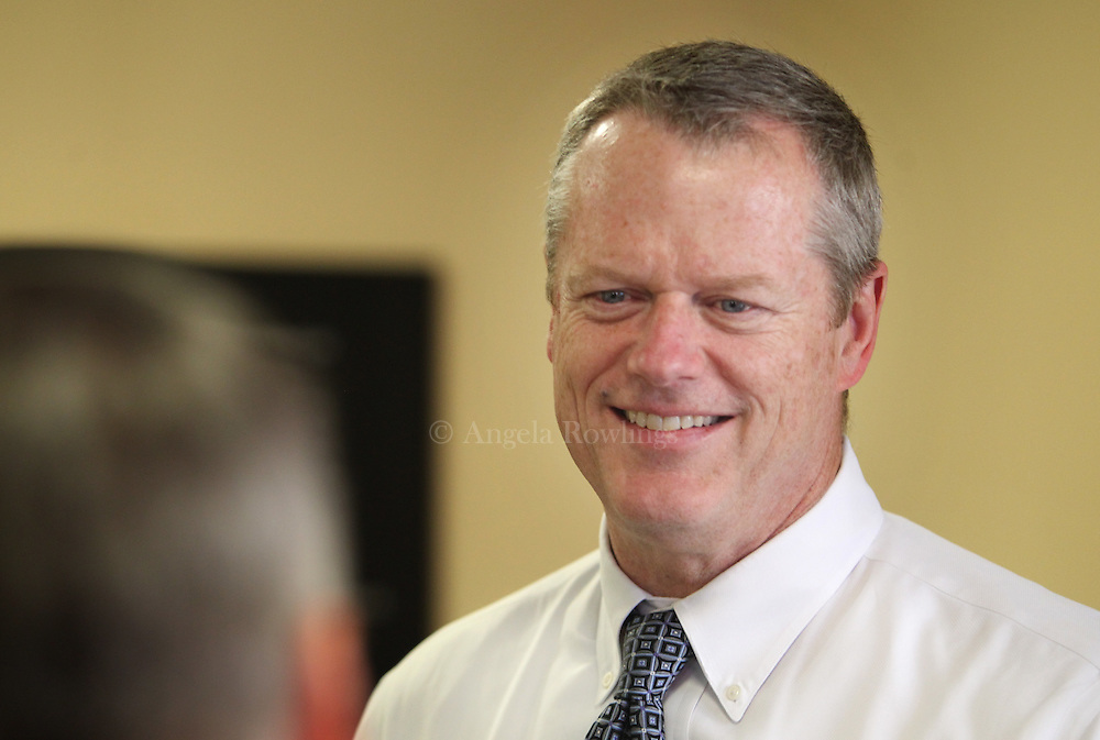 (Boston, MA - 5/26/15) Gov. Charlie Baker visits the Boys & Girls Club in Dorchester, Tuesday, May 26, 2015. Staff photo by Angela Rowlings.