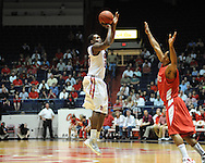 """Ole Miss' Nick Williams (20) in a National Invitational Tournament game at the C.M. """"Tad"""" Smith Coliseum in Oxford, Miss. on Wednesday, March 14, 2012. Illinois State won 96-93 in overtime. (AP Photo/Oxford Eagle, Bruce Newman)"""