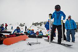 MAYRHOFER Patrick, banked slalom training, 2015 IPC Snowboarding World Championships, La Molina, Spain