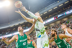 Alen Omic & Edo Muric of Slovenia and Jason Washburn & Chavdar Kostov of Bulgaria during qualifying match between Slovenia and Bulgaria for European basketball championship 2017, Arena Stozice, Ljubljana on 14th of September 2016, Slovenia. Photo by Grega Valancic / Sportida