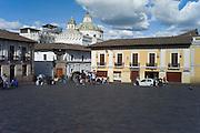 Plaza San Francisco, Company of Jesus church, Quito, Ecuador