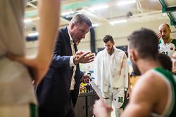 Simon Petrov head coach of KK Krka during basketball match between KK Union Olimpija and KK Krka Novo Mesto in 1st Round of Nova KBM league, on October 11, 2018, in SD Leona Stuklja, Novo Mesto, Slovenia. Photo by Grega Valancic / Sportida