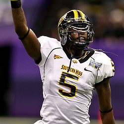Dec 20, 2009; New Orleans, LA, USA; Southern Miss Golden Eagles wide receiver DeAndre Brown (5) during the 2009 New Orleans Bowl at the Louisiana Superdome. Middle Tennessee State defeated Southern Miss 42-32. Mandatory Credit: Derick E. Hingle-US PRESSWIRE