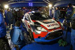 16.01.2014, Servicepark, Gap, FRA, FIA, WRC, Rallye Monte Carlo, 1.Tag, im Bild Arbeiten am Fahrzeug von KUBICA Robert / SZCZEPANIAK Maciej ( RK M Sport World Rallye Team (GBR) / Ford Fiesta RS ), Aktion / Action // during day one of FIA Rallye Monte Carlo held near Monte Carlo, France on 2014/01/16. EXPA Pictures © 2014, PhotoCredit: EXPA/ Eibner-Pressefoto/ Neis<br /> <br /> *****ATTENTION - OUT of GER*****