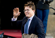 10-12-2014 AMSTERDAM -   Prince constantijn Arrive at the Dam palace in Amsterdam for the Prince Claus prize 2014 COPYRIGHT ROBIN UTRECHT