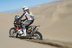 Slovenian Enduro Biker Miran Stanovnik competes during 34th rally Dakar - 2012 edition from Mar del Plata across Argentina, Chile and Peru towards Lima, on January 11, 2012. (Photo by MaindruPhoto)