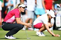 Golf , 6. september 2014, Suzann Pettersen med Caroline Martens (bak)<br /> LPGA spiller