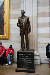 A statue of Gerald Ford in the Capitol building in Washington DC in the United States. From a series of travel photos in the United States. Photo date: Friday, March 30, 2018. Photo credit should read: Richard Gray/EMPICS