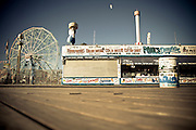 Front of Paul's Daughter store on Coney Island's boardwalk with the Wionder Wheel in the background, Brooklyn, New York, 2010.