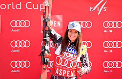 16.03.2017, Aspen, USA, FIS Weltcup Ski Alpin, Finale 2017, SuperG, Damen, Siegerehrung, im Bild // during the winner presentation for the ladie's Super-G of 2017 FIS ski alpine world cup finals. Aspen, United Staates on 2017/03/16. EXPA Pictures © 2017, PhotoCredit: EXPA/ Erich Spiess