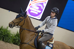 Lindelow Douglas, (SWE), Casello <br /> Training session<br /> Longines FEI World Cup™ Jumping Finals <br /> Las Vegas 2015<br />  © Hippo Foto - Dirk Caremans<br /> 15/04/15