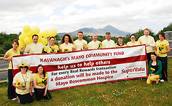 Store managers and staff from Kavanaghs Supervalu Stores in Mayo launched their upcoming Fun Walk ' Sunflower Sunday 'which takes place on the 1st of July on the Westport Greenway. The event will raise funds for the Mayo /Roscommon Hospice and Andy Moran Community Development Officer with the hospice came along to support the launch...Pic Conor McKeown