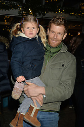 The Ivy Chelsea Garden's Guy Fawkes Party & Launch of The Winter Garden was held on 5th November 2016.<br /> Picture shows:- TOM AIKENS and his daughter JOSEPHINE