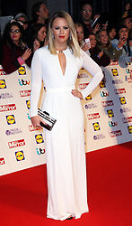 """Kimberley Walsh arriving at the Pride of Britain Awards in London,  Monday, 7th October 2013. Picture by Stephen Lock / i-Images<br /> File photo - Girls Aloud Star Kimberley Walsh Pregnant. Former Girls Aloud singer Kimberley Walsh has revealed she is expecting her first child with her boyfriend Justin Scott.<br /> <br /> The star told fans the news on Twitter, writing: """"Justin and I are so happy to let you all know we are having a baby!!! Couldn't wait to share our lovely news with you all.<br /> Photo filed Tuesday 25th Feb 2014."""