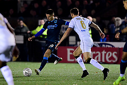 Tom Nichols of Bristol Rovers is marked by Jack Holland of Bromley - Mandatory by-line: Ryan Hiscott/JMP - 19/11/2019 - FOOTBALL - Hayes Lane - Bromley, England - Bromley v Bristol Rovers - Emirates FA Cup first round replay
