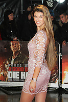 Amy Willerton, A Good Day To Die Hard - UK Film Premiere, Empire Cinema Leicester Square, London UK, 07 February 2013, (Photo by Richard Goldschmidt)