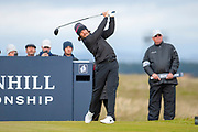 Tommy Fleetwood drives on the 16th hole during the final round of the Alfred Dunhill Links Championships 2018 at West Sands, St Andrews, Scotland on 7 October 2018