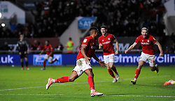 Niclas Eliasson of Bristol City scores a goal 1-0 -Mandatory by-line: Nizaam Jones/JMP - 18/01/2020 - FOOTBALL - Ashton Gate - Bristol, England - Bristol City v Barnsley - Sky Bet Championship