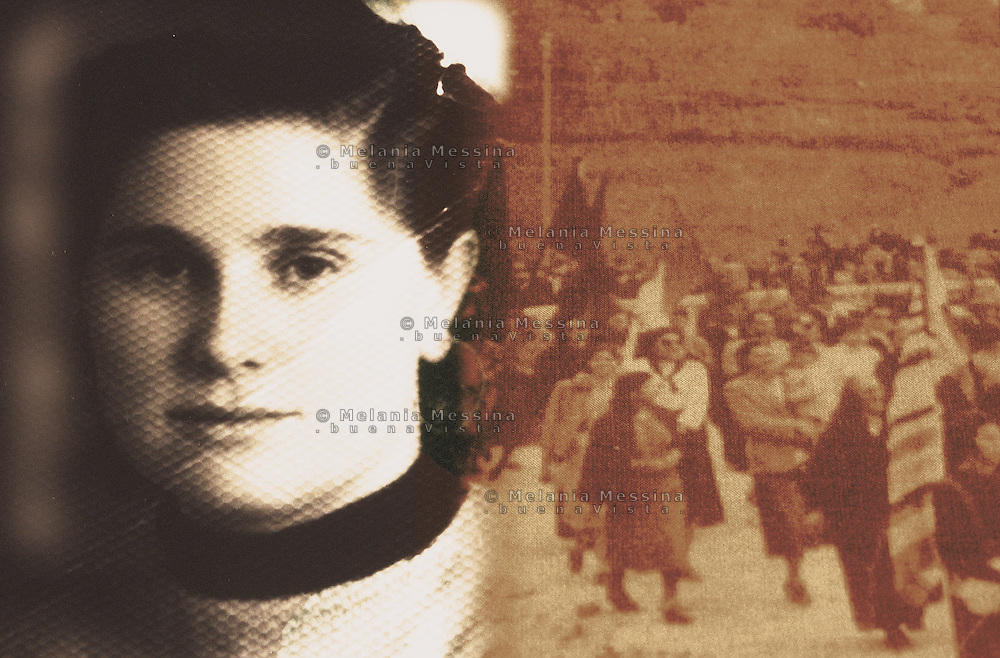 Souvenir photos of Santina Barrancotto, activist of Sicilian peasant movement after the second world war.<br />