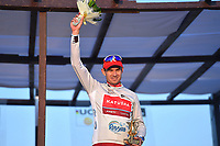 Podium, KRISTOFF Alexander (NOR Katusha,) Silver Grey Points Jersey,  during the 15th Tour of Qatar 2016, Stage 5, Sealine Beach Resort - Doha Corniche (114,5Km), on February 12, 2016 - Photo Tim de Waele / DPPI