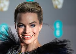 Margot Robbie attending 72nd British Academy Film Awards, Arrivals, Royal Albert Hall, London. 10th February 2019
