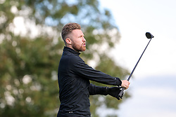 Matty Taylor of Bristol Rovers joins team Irene the Gorilla as they take part in the annual Bristol Rovers Golf Day - Rogan Thomson/JMP - 10/10/2016 - GOLF - Farrington Park - Bristol, England - Bristol Rovers Golf Day.