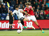 FOOTBALL: Lars Stindl (Germany) and Jannik Vestergaard (Denmark) during the Friendly match between Denmark and Germany at Brøndby Stadion on June 6, 2017 in Brøndby, Denmark. Photo by: Claus Birch / ClausBirch.dk.