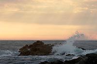 Asilomar State Beach God Beam Wave Splashes, Pacific Grove, California