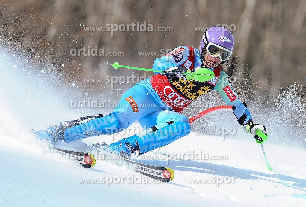 30.11.2014, Aspen Mountain Course, Aspen, USA, FIS Weltcup Ski Alpin, Aspen, Slalom, Damen, 1. Lauf, im Bild Tina Maze (SLO) // Tina Maze of Slovenia in action during 1st run of ladies Slalom of FIS Ski Alpine Worldcup at the Aspen Mountain Course in Aspen, Canada on 2014/11/30. EXPA Pictures © 2014, PhotoCredit: EXPA/ Erich Spiess
