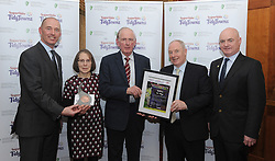 Ballina Tidy Towns collected their bronze medal at the Tidy Towns North West and West Region Awards ceremony at Hotel Westport.<br />